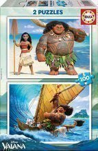 Puzzle pro děti Disney Vaiana Educa 2 x 100 dílů od 5 let