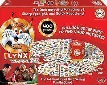 Joc de societate pentru toată familia Lynx Educa cu 400 de imagini în engleză pentru vârsta cuprinsă