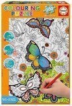 Puzzle Carte de colorat All good things are wild and free Doodle Art Educa 300 de piese de la vârsta