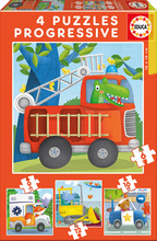 Puzzle copii Salvatori de animale Educa progresiv 6-9-12-16 piese