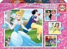 Puzzle copii Prinţese Disney Educa progresiv 12-16-20-25 de piese