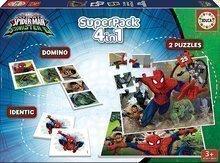 Dětské puzzle Spiderman SuperPack 4 v 1 Educa 2 x domino, puzzle, pexeso EDU17197