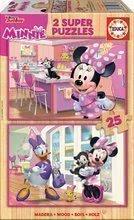 Drevené puzzle pre deti Minnie Happy Helpers Educa Disney 2x25 dielov od 4 rokov