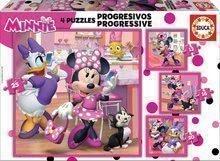 Puzzle copii Minnie happy helpers Educa Progressive 12-16-20-25 piese