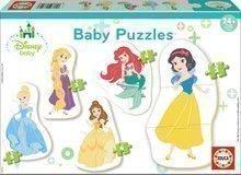 Puzzle pentru cei mici Baby 5 Disney Princess de la vârsta de 24 de luni