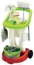 Dětský úklidový vozík 100% Chef Écoiffier s kbelíkem a 9 doplňky