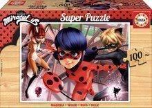 Drevené puzzle Miraculous Ladybug Educa 100 dielov EDU17957