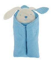 Prosop de baie cu glugă pentru bebeluşi toTs-smarTrike iepuraş albastru 100% bumbac moale natural