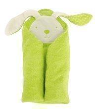 Prosop de baie cu glugă pentru bebeluşi toTs-smarTrike iepuraş verde 100% bumbac moale natural