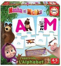 Puzzle Písmenká abecedy Máša a medveď Educa 78 dielov francúzsky od 4 rokov EDU18541