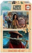 Drevené puzzle Raya and the Last Dragon Educa 2x50 dielov od 5 rokov