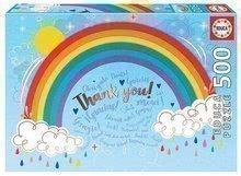 Puzzle Rainbow Thank you Educa 500 dielov a Fix lepidlo od 11 rokov EDU18893