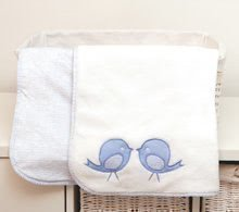 Păturică bebe cu două părţi Classic toTs-smarTrike cu păsărele 100% bumbac jersey albastru