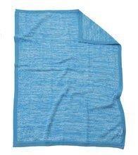 Păturică bebe croşetat Joy toTs-smarTrike bumbac 100% natural albastru