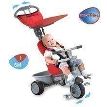 Tříkolka pro děti Recliner 4v1 smarTrike s polohovatelnou opěrkou od 6 měsíců červeno-šedá