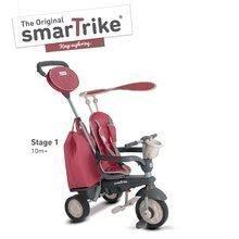 Trojkolka pre deti Voyage Touch Steering 4v1 smaTrike s 2 taškami a slnečnou clonou od 10-36 mesiacov červeno-šedá
