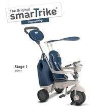 Trojkolka Voyage Touch Steering 4v1 smaTrike s 2 taškami a slnečnou clonou od 10-36 mesiacov modro-šedá