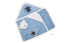 Osuška s kapucňou pre najmenších Blue Denim-Bath Kaloo so žinkou modrá