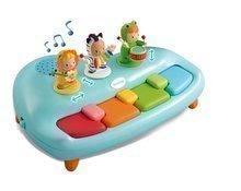 Piano Cotoons Smoby s melódiami a figúrkami od 12 mesiacov modré