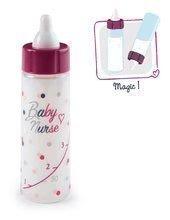 Lahvička s ubývajícím mlékem Violette Baby Nurse Smoby pro panenku od 12 měsíců
