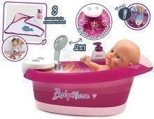 Vanička s tekoucí vodou elektronická Violette Baby Nurse Smoby s jacuzzi koupelí a Led osvětlením pro 42 cm panenku