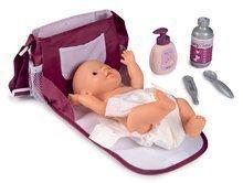 Přebalovací taška s plenkou Violette Baby Nurse Smoby se 7 doplňky s nastavitelným popruhem