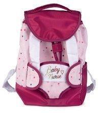 Batoh s nosičem pro 42 cm panenku Violette Baby Nurse Smoby a s kapsou pro láhev nastavitelná ramínka