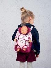 Batoh s klokankou pro 42 cm panenku Violette Baby Nurse Smoby a s kapsou pro láhev nastavitelná ramínka