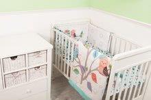 Garnitură de pat bebe Joy toTs-smarTrike cu bufniţă pătură, cearşaf şi protector de cap 100% bumbac