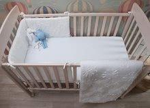 Garnitură de pat bebe toTs-smarTrike flori pătură, cearşaf şi protector de cap bumbac 100% prespălat