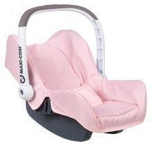 Autosedačka Powder Pink Maxi Cosi&Quinny Smoby pre 42 cm bábiku s úložným priestorom a bezpečnostným pásom