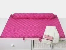 Přebalovací podložka Joy toTs-smarTrike s 2 povlečeními hroch 100% satén bavlna růžová