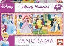 Puzzle copii Panoramă Prinţese Educa 100 buc de la vârsta de 5 ani