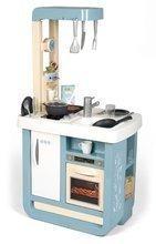 Kuchyňka se zvukem Bon Appetit Kitchen Grey Smoby s pečící troubou a chladnička s 23 doplňky