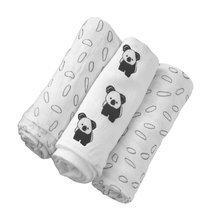 Pleduri pentru înfășarea bebelușului Bamboo Black&White toT's-smarTrike koala 3 bucăţi 100% mătase b
