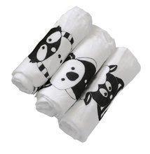 Pleduri pentru înfășarea bebelușului Bamboo Black&White toT's-smarTrike cu animale 3 bucăţi roz