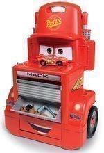 Pracovná dielňa vozík Autá Mack Truck Smoby s priečinkami a 28 doplnkami červený
