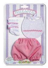 Šatičky pro panenku Clip Strip Nursery Écoiffier 32 cm modré/růžové