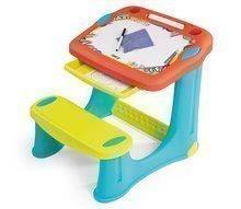 Lavica na kreslenie Magic Desk Smoby Kresli a zmaž so 4 odkladacími priestormi a 12 doplnkami od 24 mes