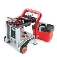 Pracovný vozík Black&Decker Devil Workmate 3v1 Smoby a kufrík s náradím Tooly