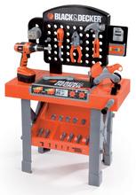 Pracovná dielňa Black&Decker Smoby s mechanickou vŕtačkou, motorkou a 25 doplnkami