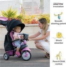 Trojkolka Swirl DLX 4v1 Grey&Pink TouchSteering smarTrike s tlmičom a voľnobehom + UV filter šedo-ružová od 10-36 mesiacov ST6502202