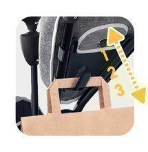 Tříkolka a kočárek v jednom s brzdou Baby Driver Plus Grey Smoby s EVA koly a intuitivním ovládáním šedá od 10 měsíců