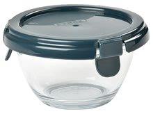 Dóza na jídlo kulatá Beaba Pyrex Glass Portion 200 ml z kvalitního skla tmavomodrá