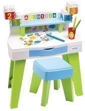 Stôl na kreslenie a tvorenie My Very First Desk Maxi Abrick Ecoiffier so stoličkou a vymaľovánky s kockami od 12-36 mes ECO7851