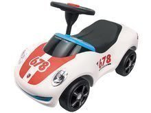Babytaxiu maşină Porsche Premium BIG cu claxon alb de la 18 luni