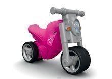 Babytaxiu motocicletă Girl Bike BIG gri-roz de la 18 luni