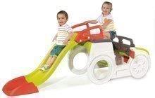 Detská preliezačka Adventure Car Smoby s pieskoviskom a šmykľavkou dlhou 150 cm od 2 rokov