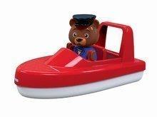 Dětský motorový člun AquaPlay s kapitánem medvědem Bo kompatibilní s Duplo od 3 let