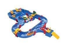 Detská vodná dráha AquaPlay AquaWorld s hrošíkom Wilmou, kapitánom Boom a priehradou od 3-7 rokov